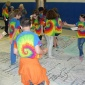 Giant Map Gives 'Foots-on' Education About NY Geography 4-H Youth stand on NY Giant Map